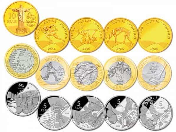 moedas olimpiadas rio 2016