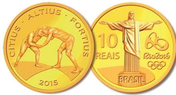 moeda dos jogos olímpicos