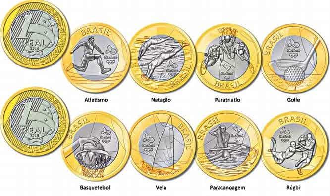 coleção de moedas olimpiadas