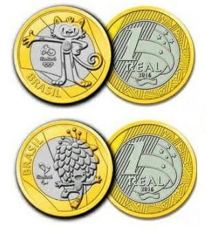 moeda das olimpíadas valor de cada uma